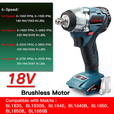 """For Makita DTW285 18V Li-Ion Brushless Cordless Impact Wrench Driver 1/2"""" Body"""