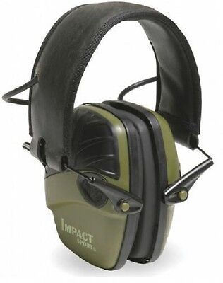 Howard Leight Honeywell Impact Sport Ear Sound Protector defenders shooting GRN