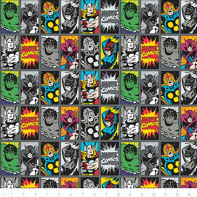 Fat Quarter Marvel Comic Book Heroes Cotton Quilting Sewing Fabric