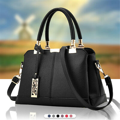 Fashion Women PU Leather Handbag Satchel Lady Tote Purse Shoulder Crossbody Bags