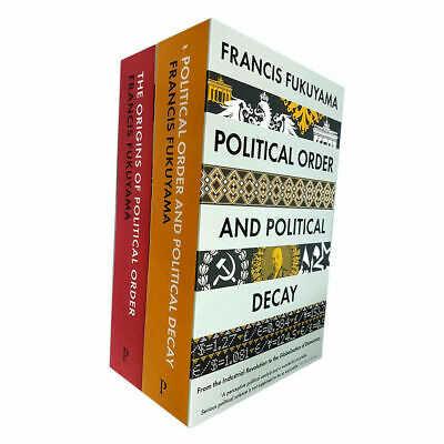 Francis Fukuyama The Origins of Political Order 2 books collection set NEW