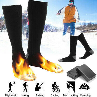 AU 4.5V Electric Rechargeable Battery Heated Socks Foot Warmer Heater Shoe Boot