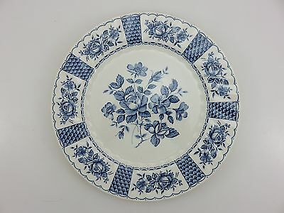 "Myott Melody Fine Ironstone China 10"" Blue Dinner Plate Vintage Made In England"
