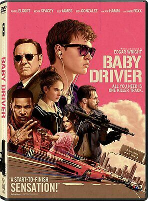 Baby Driver DVD Ansel Elgort, Kevin Spacey