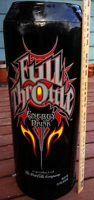 "Coca-Cola Full Throttle 3 ft x 14.25"" Giant Inflatable Energy Drink Can 2004"