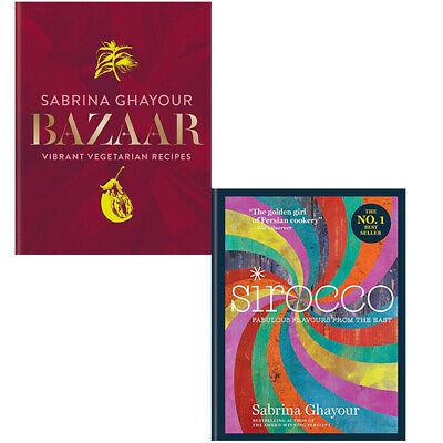 Sabrina Ghayour Bazaar Sirocco Fabulous Flavours From 2 Books Collection Set NEW
