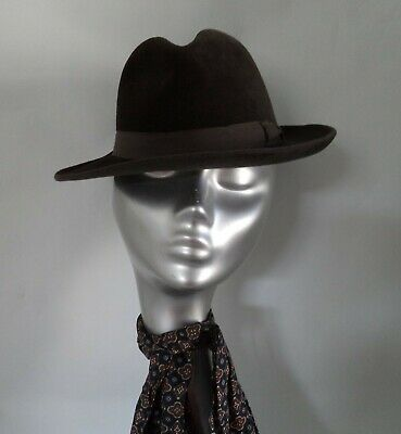 Dunn And Co Austrian Velour Trilby Hat Brown