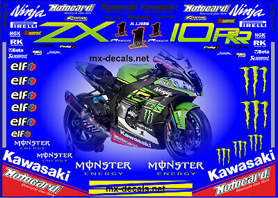 Kawasaki WSBK 2018 Jonathan Rea decal set