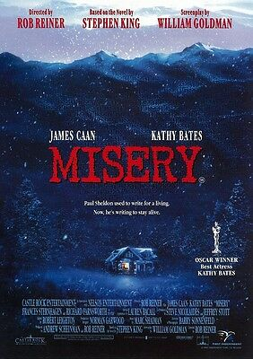 Misery movie poster print  : Stephen King, James Caan : 11 x 17 inches