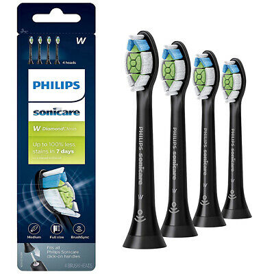 4x Philips Sonicare Diamond Clean Black Electric TOOTHBRUSH HEADS HX6064/95