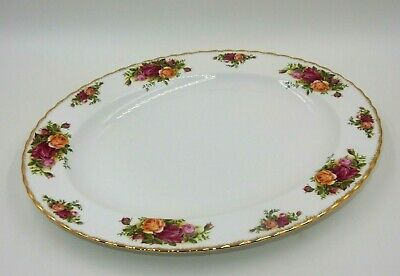 """Royal Albert Old Country Roses 13-5/8"""" Oval Serving Platter Bone China - England"""
