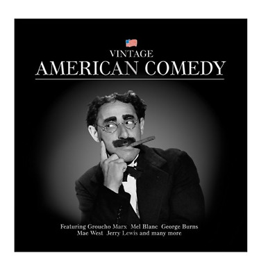 American Comedy by Groucho Marx, Jerry Lewis, Mel Blanc, Mae West VINTAGE CD