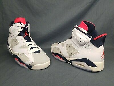 new product f3ff9 3f4d8 Nike Men s Air Jordan 6 Retro Fashion Sneakers White Grey Red Size 9  DAMAGED!