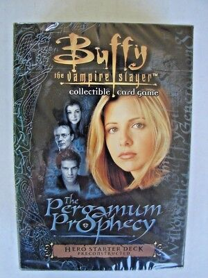 RARE SEALED Buffy the Vampire Slayer 2001 PERGAMUM PROPHECY 2001 HERO DECK CARDS