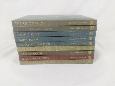 Lot of 9 Vintage Time Life Great Ages of Man Books Egypt Rome Kings Faith + more