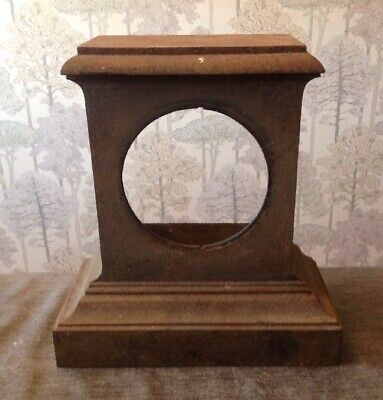 Antique Iron Mantle Clock Case Good Quality 29x26x13cm Aperture 127mm To Restore