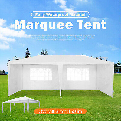 Pavilion Metal Gazebo Awning Canopy Sun Shade Shelter Marquee Patio Party Tent
