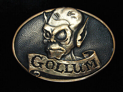 Qh07174 *Nos* Vintage 1979 *Gollum Lord Of The Rings* Fantasy Solid Brass Buckle