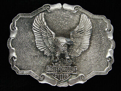QG19162 VINTAGE 1970s **HARLEY-DAVIDSON MOTORCYCLES** COMMEMORATIVE BELT BUCKLE
