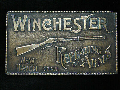 RB05109 VINTAGE 1970s **WINCHESTER REPEATING ARMS** GUN & FIREARM BELT BUCKLE