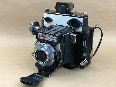 Simmon Bros. Omega 120 Camera w/ 90mm Wollensak Omicron - Works Great