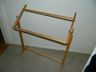Wooden Tapestry/Needlepoint Adjustable Frame On Stand