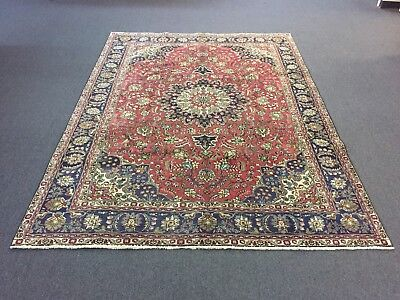 On Sale Genuine S.Antique Hand Knotted Persian Area Rug Floral Carpet 7x10,7x9'6