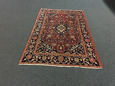 """On Sale Semi antique Hand Knotted Persian Kashann-Area Rug Carpet 4x6,4'1""""x6'3"""""""