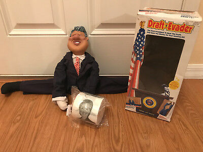 1993 Bill Clinton Door Draft Stopper Evader Doll with Hilary toilet paper