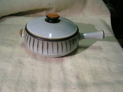 Denby stoneware 4pt soup pot glazed crock made in england very nice great colors