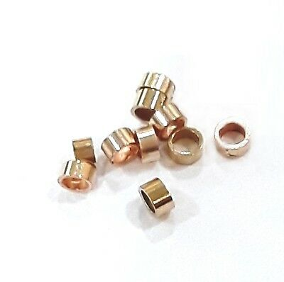14K Gold Filled Crimp Tube  Beads,2mmx1mm