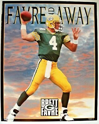 7acb18efead Original 1995 Green Bay Packers Brett Farve and Away 20x16 Costacos Poster  Vtg