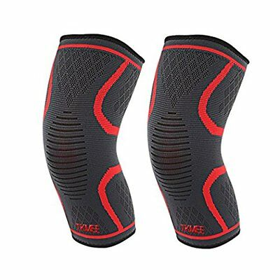 (2) Knee Sleeve Support Compression Brace Gym Sports Joint Pain Arthritis, Large