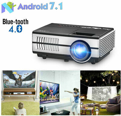 HD Smart Android Projector Bluetooth Movie Game for Youtube TV Netflix Apps HDMI
