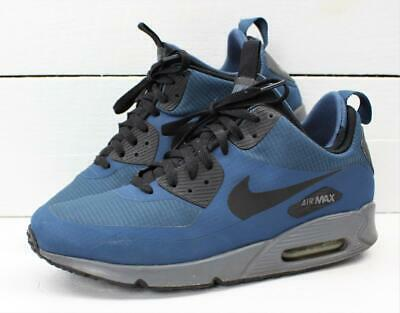 cheaper 4fbb6 f0300 2015 NIKE AIR Max 90 1990 Mid Mens Navy Blue Wolf Grey Shoes Sneakers Size  10.5