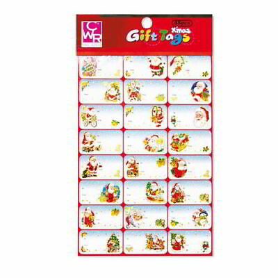 Self Adhesive Labels for Packs Gift Soprapacco 48 Pieces Christmas Die Cut