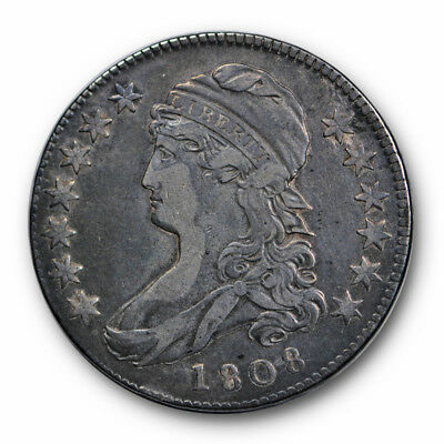 1808 50C Capped Bust Half Dollar Very Fine to Extra Fine US Type Coin #6058