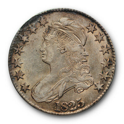1825 50C Capped Bust Half Dollar Extra Fine to About Uncirculated #RP113