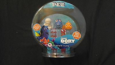 Disney Pixar Finding Dory 3 Piece Pez Dispenser Set With Real Fish Bowl