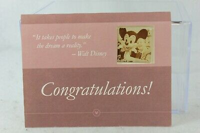 Disney Parks Pin Cast Member Exclusive Earning your Ears Walt Mickey Mouse Card