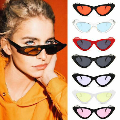 Womens Cat Eye Sunglasses Retro Classic Designer Vintage Fashion Shades Eyewear