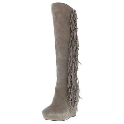 371c1b493b7 Steve Madden Womens Badgess Taupe Wedge Boots Shoes 7.5 Medium (B