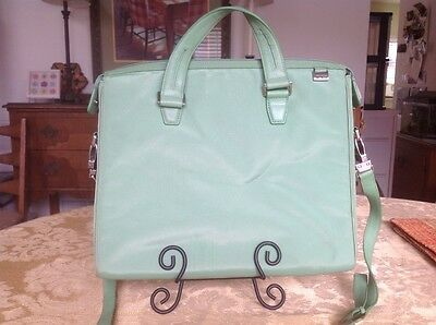 """TUMI Green Ballistic Nylon Laptop Carry-On Case, 13"""", No Signs of Wear"""