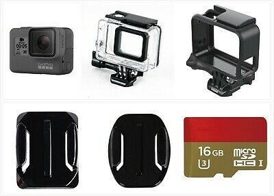 New GoPro HERO 5 Black Waterproof Action 4K Ultra HD Camera Frame 16GB card Kit