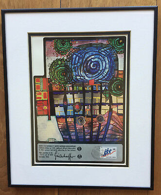 "Hundertwasser , Wfuna , ""Escape Of The Indoor Sky"" Coa, #862/1500, Framed"