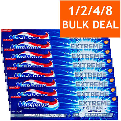 MACLEANS EXTREME CLEAN WHITENING TOOTHPASTE TEETH GUMS ORAL DENTAL CARE 170g