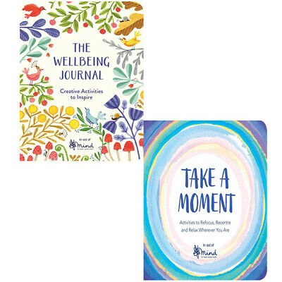 The Wellbeing Journal, Take A Moment 2 Books Collection Set By MIND NEW