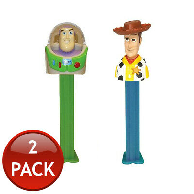 2 x PEZ DISPENSER DISNEY PIXAR COLLECTABLE CANDY LOLLY HOLDER CHARACTER TOY 17g