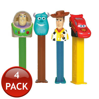 4 x PEZ DISPENSER DISNEY PIXAR COLLECTABLE CANDY LOLLY HOLDER CHARACTER TOY 17g