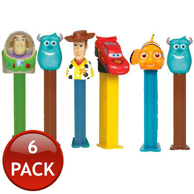 6 x PEZ DISPENSER DISNEY PIXAR COLLECTABLE CANDY LOLLY HOLDER CHARACTER TOY 17g